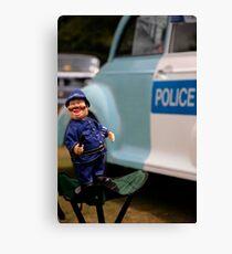 Laughing policeman Canvas Print