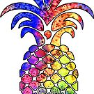 PINEAPPLE RAINBOW WELCOME HIPPY COOL PEACE HIPPIE HANG LOOSE HAPPY CAMPER by MyHandmadeSigns