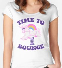 Time To Bounce Women's Fitted Scoop T-Shirt