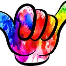 SHAKA HANG LOOSE RAINBOW PEACE HIPPIE HAWAII CALIFORNIA SURFER SURFING SURF by MyHandmadeSigns