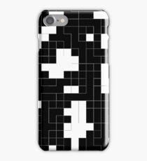 Monochrome Pixels 2 iPhone Case/Skin