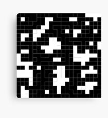 Monochrome Pixels 2 Canvas Print