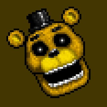 Adventure Golden Freddy - FNAF World - Pixel Art by GEEKsomniac