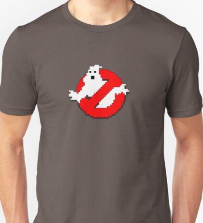 8 bit Ghostbusters logo. T-Shirt