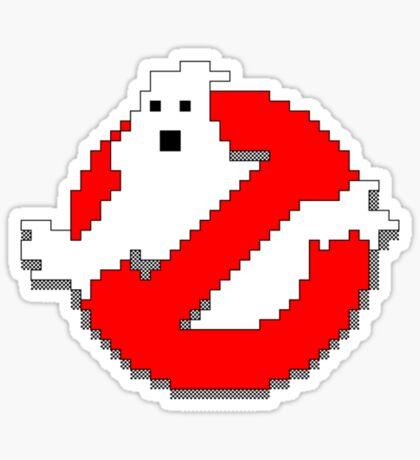 8 bit Ghostbusters logo. Sticker