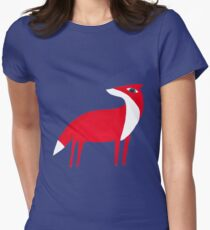 Fox pattern Womens Fitted T-Shirt