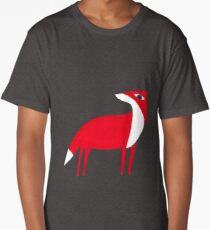 Fox pattern Long T-Shirt