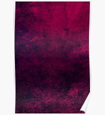 Grunge Dark Pink Poster