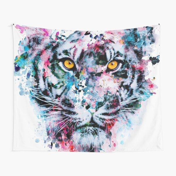 Tiger Blue Tapestry