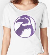 Grape-kun the Penguin Women's Relaxed Fit T-Shirt