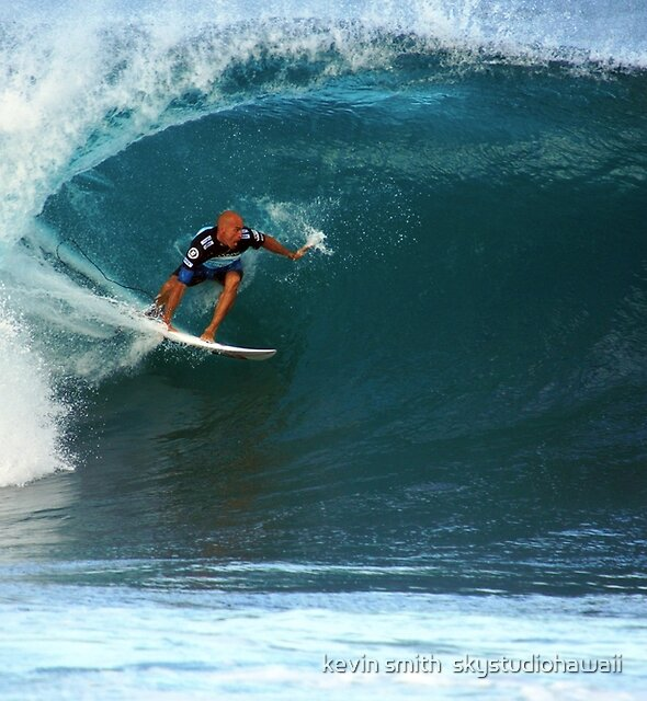 Kelly Slater at Pipeline Masters by kevin smith  skystudiohawaii