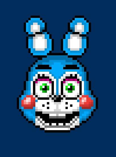 Five Nights At Freddy S 2 Pixel Art Toy Bonnie Poster By Geeksomniac