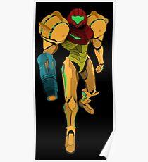 Samus Aran - Metroid Vector Poster