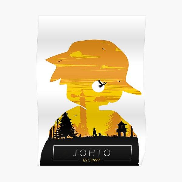 Johto Region- Gold Vers. Poster