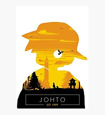 Johto Region- Gold Vers. Photographic Print
