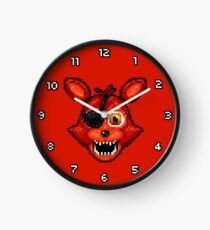 Adventure Foxy - FNAF World - Pixel Art Clock