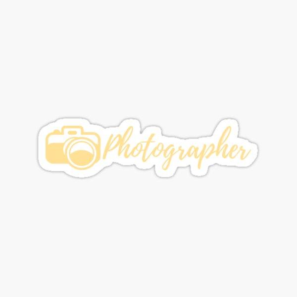 Photographer | Hobbies | Profession  Sticker