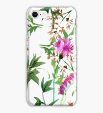 Wild flowers pattern   iPhone Case/Skin