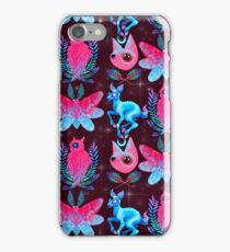 Cute Animal Pattern - Dark Pink  iPhone Case/Skin