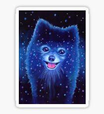 Space Pomeranian Sticker