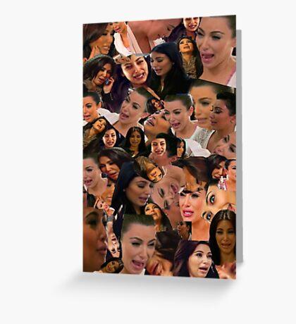 Kim kardashian greeting cards redbubble - Kim kardashian crying collage ...