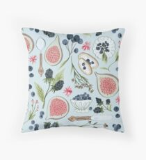 Blueberry Breakfast Throw Pillow