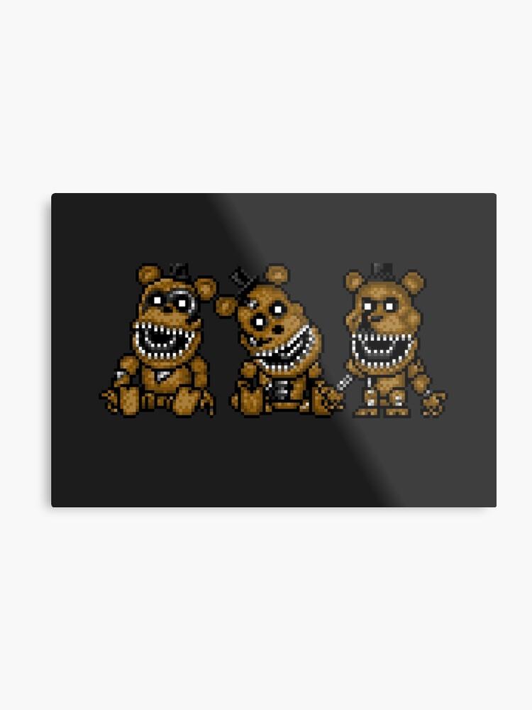 Five Nights at Freddys 4 - Mini Freddy's - Pixel art | Metal Print