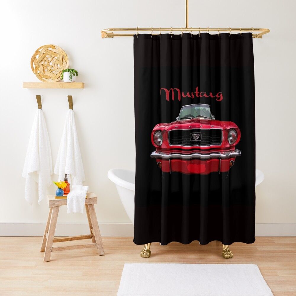 Little Red Mustang Shower Curtain