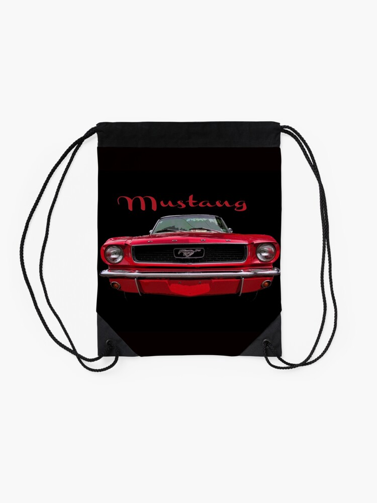 Alternate view of Little Red Mustang Drawstring Bag