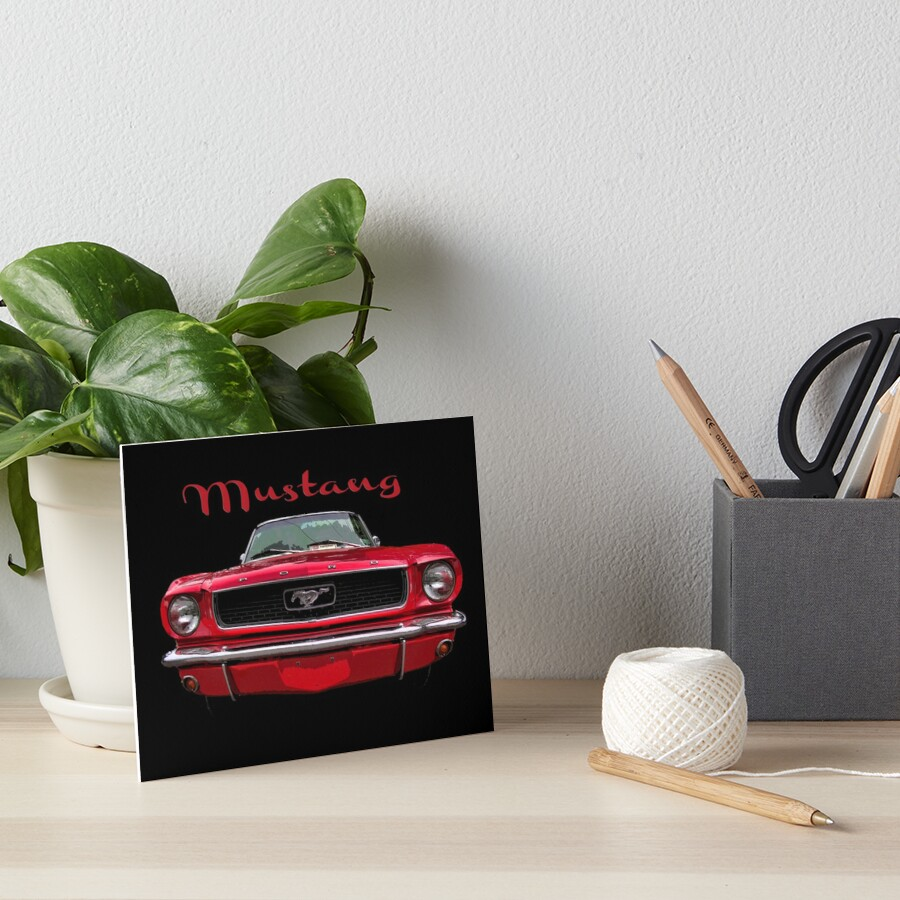 Little Red Mustang Art Board Print
