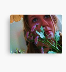 Flowers and Eyes Canvas Print