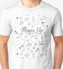 Shape up your life - Illustrated pattern T-Shirt