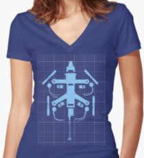 Blueprint Racing Drone Women's Fitted V-Neck T-Shirt