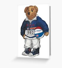 POLO STADIUM BEAR Greeting Card