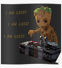 Baby Groot Death Button Poster
