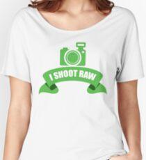 I Shoot Raw Green Women's Relaxed Fit T-Shirt
