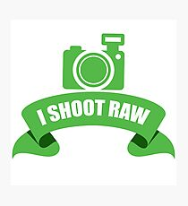 I Shoot Raw Green Photographic Print