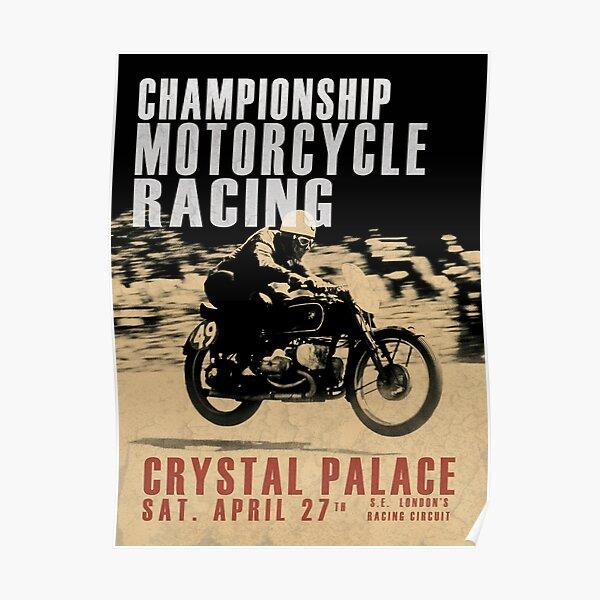 Crystal Palace Championship Motorcycle Racing Poster