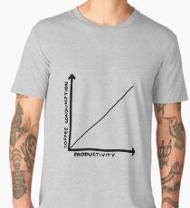 Coffee Consumption = Productivity Graph Men's Premium T-Shirt