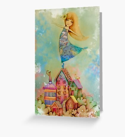 dancing on rooftops Greeting Card