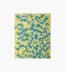 Summer Flowers Yellow Art Board