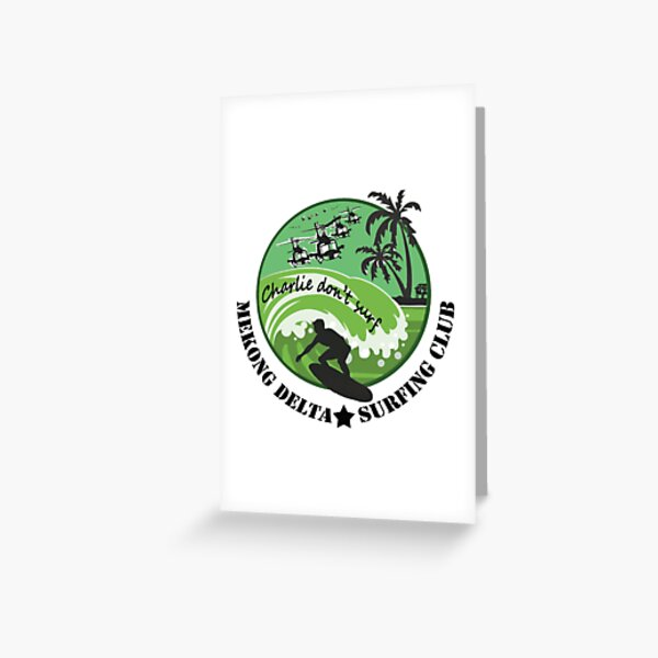 MEKONG DELTA SURF CLUB (ARMY ISSUE) 2 Greeting Card