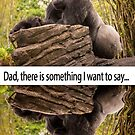 Dad Gorilla Greeting Card by daphsam