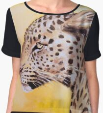 Leopard In The Sun Oil Study Chiffon Top