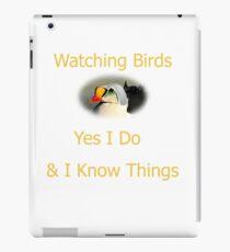 King Eider Birding Logo iPad Case/Skin
