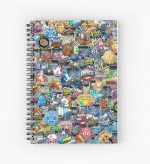 CSGO Sticker Collage Spiral Notebook