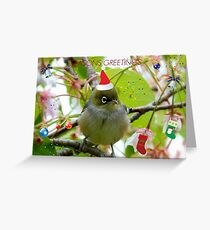 Where Is The Christmas Party? - Silver-eye! - NZ  Greeting Card