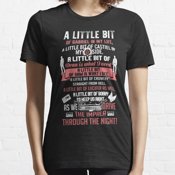 A little bit of Gabriel In My Life.. SPN parody. Essential T-Shirt