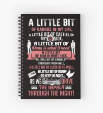A little bit of Gabriel In My Life.. SPN parody. Spiral Notebook