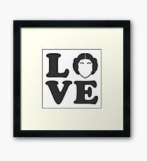 I Love Princess Leia Framed Print